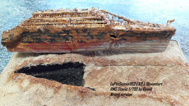 Titanic Wreck , The Bow by LePtitSuisse1912