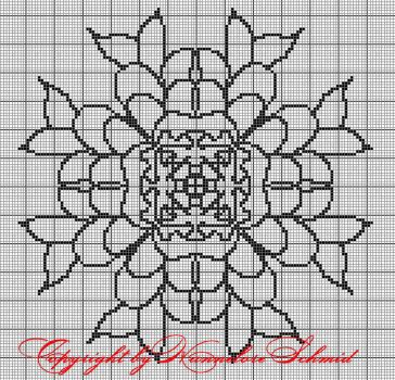 4 - free chart for filet crochet by elore