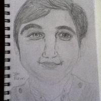 My drawing of Jim Parsons! by PaigeMichaelisJ