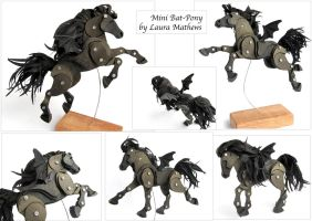 Mini Bat Pony in different poses. by Ribena-Warrior
