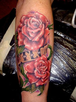 TLC Roses and Banner by mattymctatty