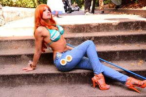 Nami 2YL One Piece by Miho-Shizue