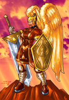 Female Warrior Angel by hulkdaddyg
