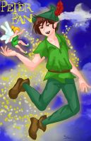 Peter Pan by ruzovymonster