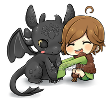 Toothless and Hiccup by ZaraAlfonso