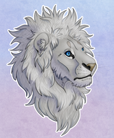 White Lion Bust by The-Hare