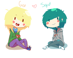 Geo x Squid OTP by Geekasaur