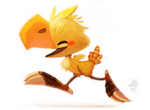 Daily Paint #658. Chocobo by Cryptid-Creations