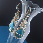 Turquoise and Pearls Earrings by mdvannes