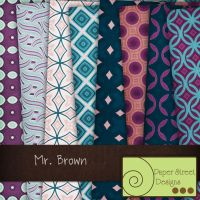 mr brown-paper street designs by paperstreetdesigns