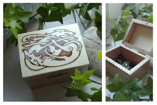 Geri and Freki wooden box by Rvannith