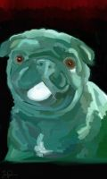 Pug Painting 2 by attemptanything