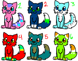 CLOSED More cat adoptables-lot! (some are free!) by Firecracker-cat