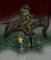 Scarecrow God and his new slave by Bioteknos