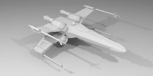X-Wing High Poly day 2 by Nighttime-Phoenix