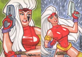 Nira X Cyberangel Sketch Cards by BillMcKay