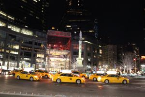 Taxis at the Circle by TheBuggynater