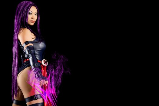 Psylocke Teaser from Superheroes Photoshoot by yayacosplay
