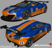 McLaren MP4 12C Gulf WIP by AfroAfroguy