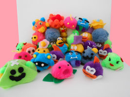 MW's Paper Mario Pompom Critters by MadameWario