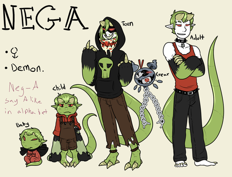 Nega Thru The Ages by DandyBound