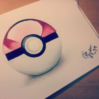 pokeball painting by GreenEco94