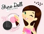 Shine Doll {.psd y .png} by alenet21tutos