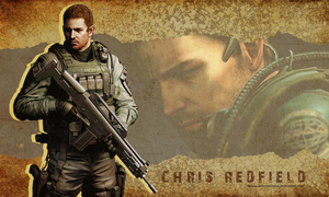 Chris Redfield wallpaper by VickyxRedfield