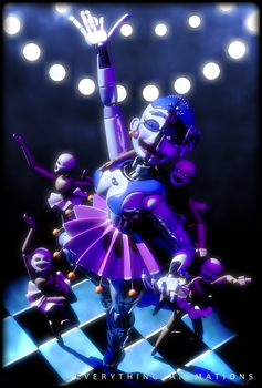 Ballora and The Minireenas by EverythingAnimations