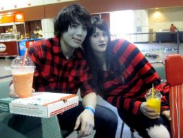 Marshall Lee and Marceline by Ceciliabot