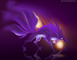 Shadow ninetails by Static-ghost