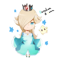 Rosalina and Luma Chibi by JJao
