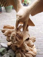 Eagle with salmon6 by woodcarve