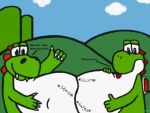 Bigdino and yoshi bellies by Ai64