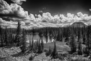 View of Butterfly Lake HDR BW by mjohanson