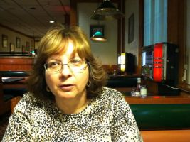my wife at dinner in a diner by hungduke