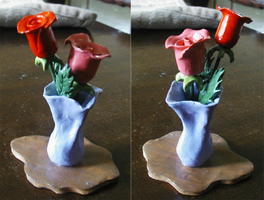 Mother's Day Clay Flowers by Nephilimist