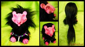 Little pink lion ooak by ZombieHun