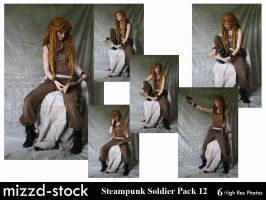 Steampunk Soldier Pack 12 by mizzd-stock