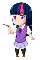 Twilight Sparkle Pixel Chibi by Fhiljyz
