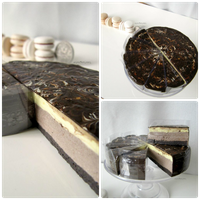 1:3 scale miniature Chocolate Cheesecake Collage by Snowfern