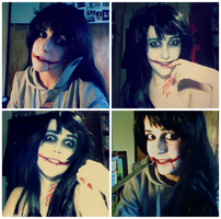 Jeff the Killer ~Make up test~ by TheMihaelGraham
