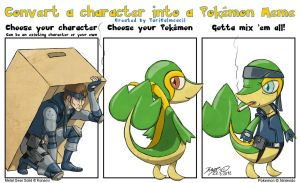 Character into Pokemon Meme - Solid Snivy by TariToons