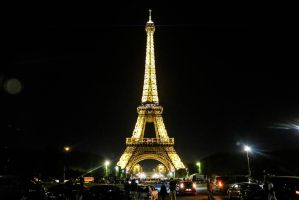 Eiffel Tower at Night by JulianaMorris