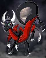 My Take on Cynder by KaylaTheDragoness