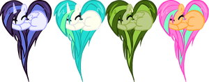 Heart Pony Adopts 3(closed) by DerpyNinjaAdopts