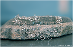 Chainmaille necklace 2 by Gex78