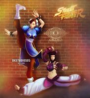 Chun Li and Juri COMMISSION by DKSTUDIOS05