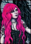 Hot Magenta -- ACEO by ElvenstarArt