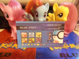 My business cards are now a thing :D by Blue-Fayt